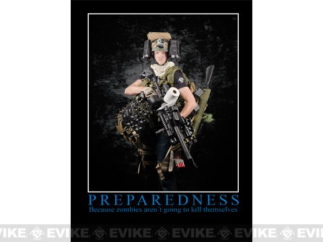 Evike.com Preparedness Motivational Poster Featuring Mo Molle, Optic Thunder, Matt (18x24)
