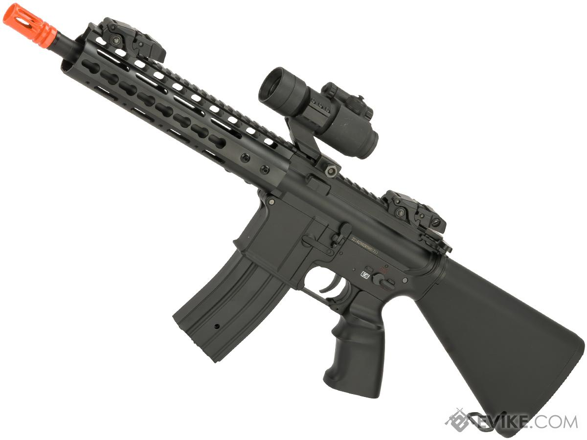 JG /Golden Eagle 5636 9 M4 Airsoft AEG with Keymod Handguard and Stubby Fixed Stock (Package: Black - Gun Only)