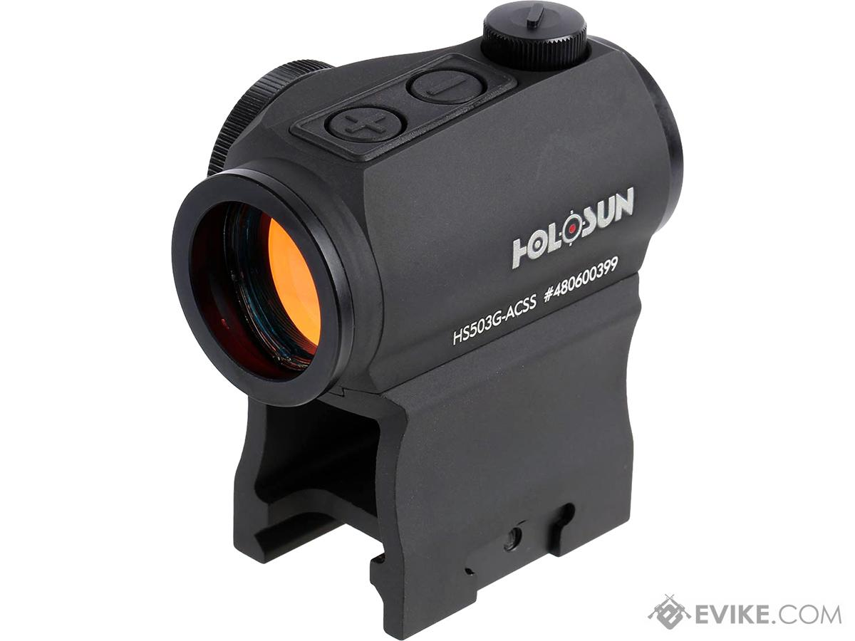 Holosun / Primary Arms HS503G Compact Red Chevron-Circle Combat Sight w/ Low & AR Mount (Model: ACSS-CQB Reticle)
