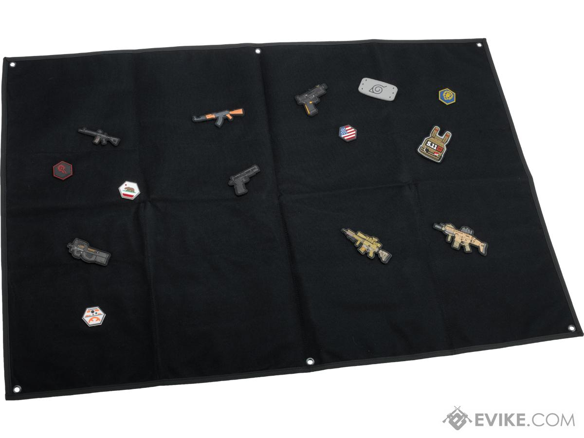 Evike.com Hook & Loop Patch Wall / Patch Holder (Color: Black / Large)