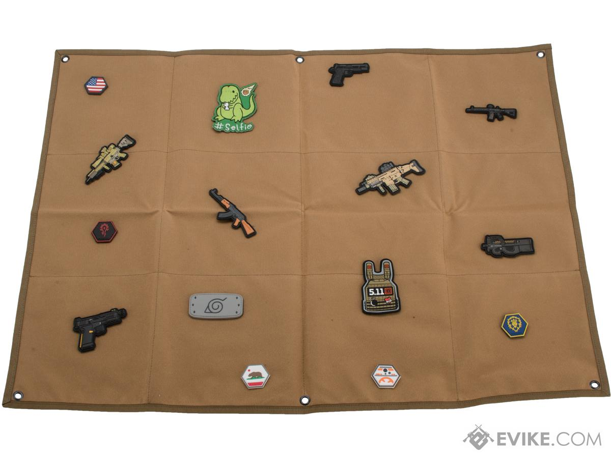 Evike.com Hook & Loop Patch Wall / Patch Holder (Color: Coyote Brown / Medium)