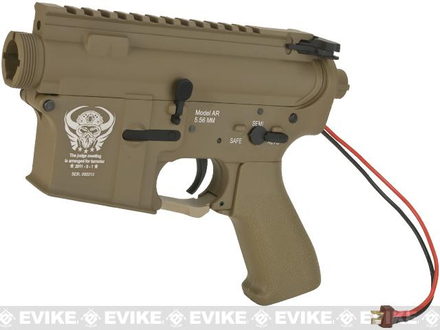 G&P Complete M4 Metal Receiver & Gearbox Airsoft AEG ProKit (Skull Frog) (Version: Rear Wire / Dark Earth)