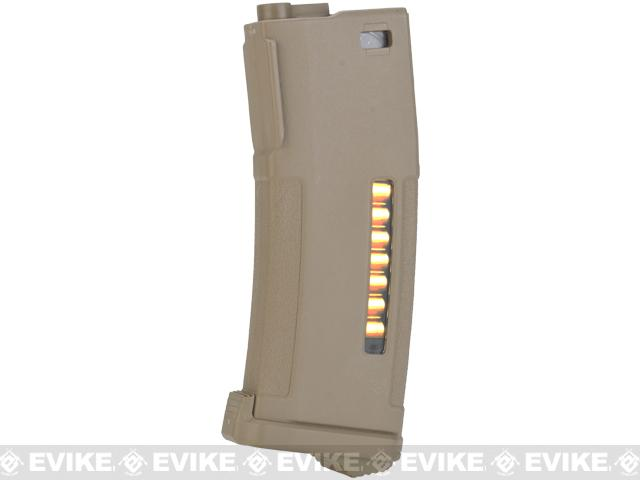 PTS 150rd Mid-Cap Enhanced Polymer Magazine (EPM) for M4 / M16 Series Airsoft AEG Rifles - Dark Earth