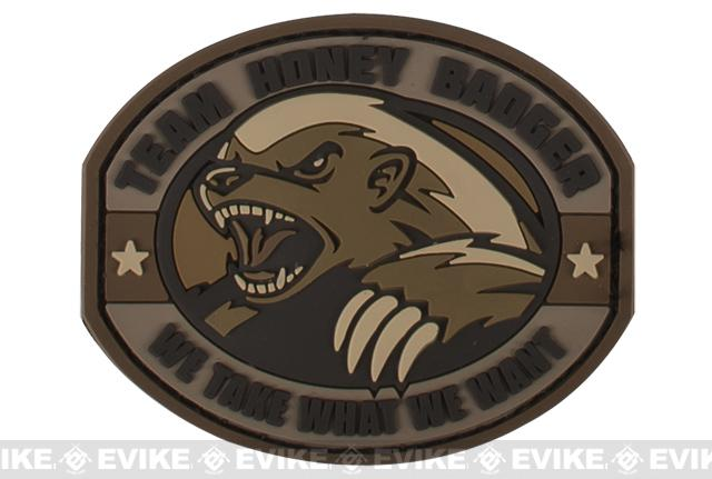 Mil-Spec Monkey Honey Badger PVC Patch - Desert