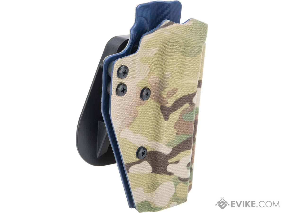 QVO Tactical Secondary OWB Kydex Holster for EMG STI / TTI JW3 2011 Combat Master Series (Color: Multicam)
