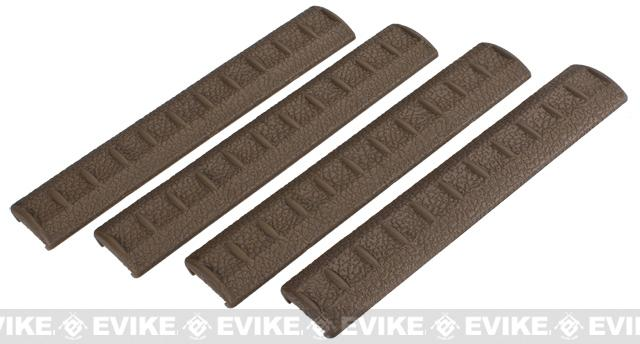 APS Rubber Rail Cover for 20mm Rails - Set of 4 (Color: Dark Earth)
