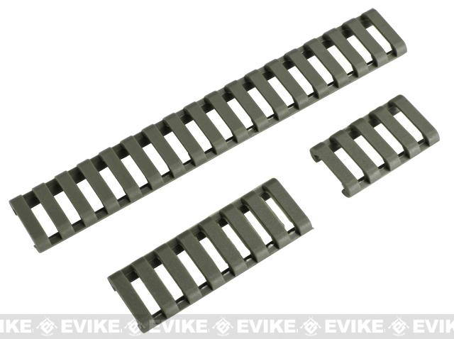 Element 18-Slot LoPro Rail Cover Set (Color: Foliage Green)