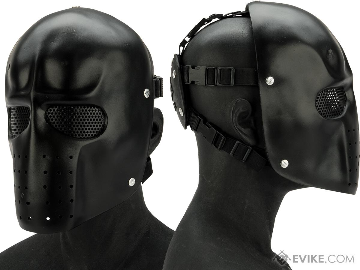Evike.com R-Custom Fiberglass  Army Full Face Mask (Color: Matte Black / Mesh Lens)