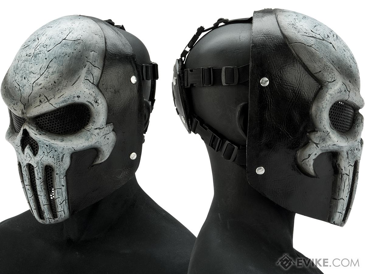 Evike.com R-Custom Fiberglass Wire Mesh Skull Mask (Color: White)