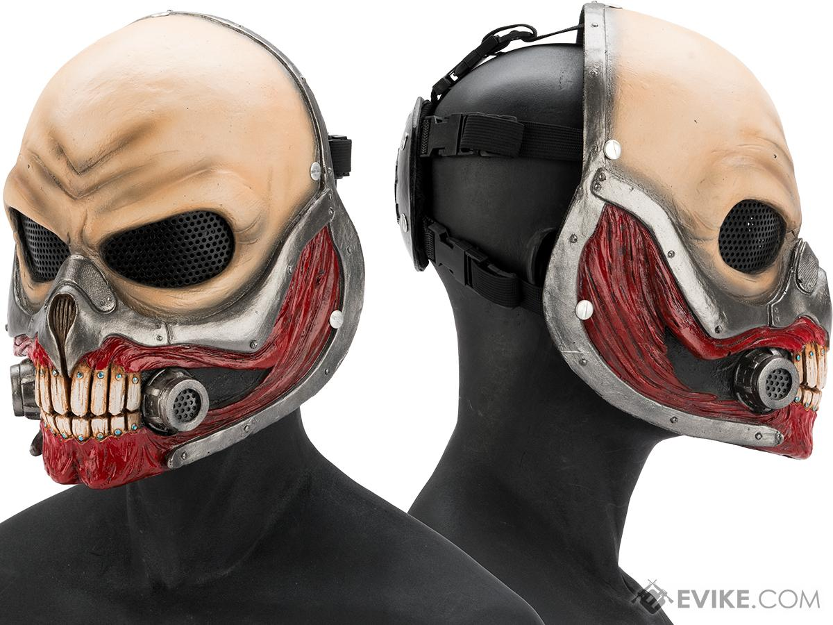 Evike.com R-Custom Immortan Joe Fiberglass Full Face Mask (Color: Mesh Lens)