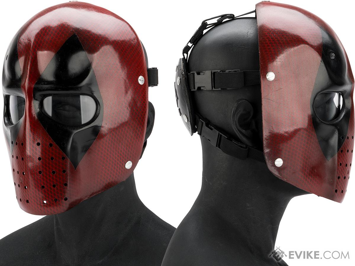 Evike.com R-Custom Fiberglass  Snarky Mercenary Full Face Mask (Color: Clear Lens)