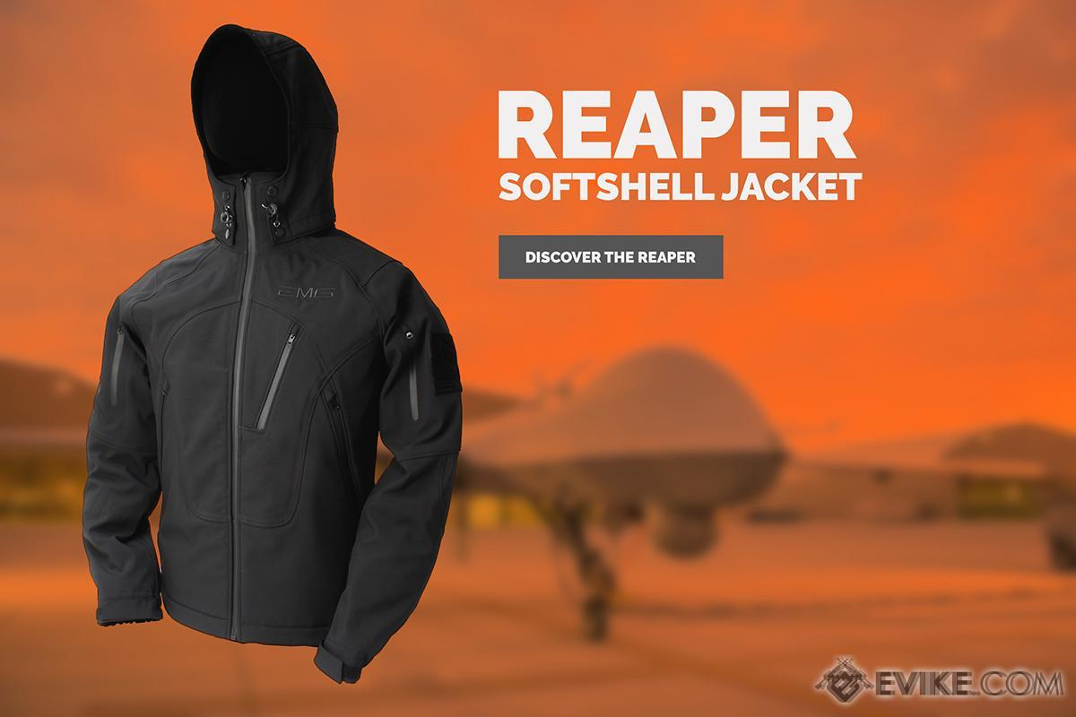 EMG Reaper Softshell Jacket - Black (Size: X-Large)