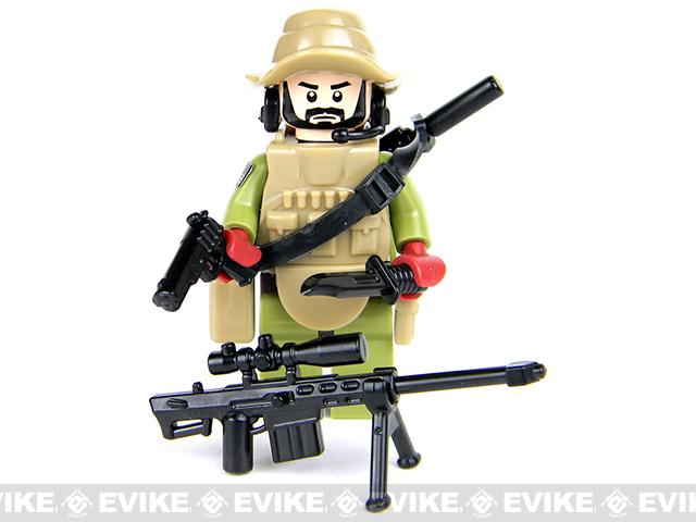 Battle Brick Customs Military Mini-Figure (Model: Force Recon Sniper)