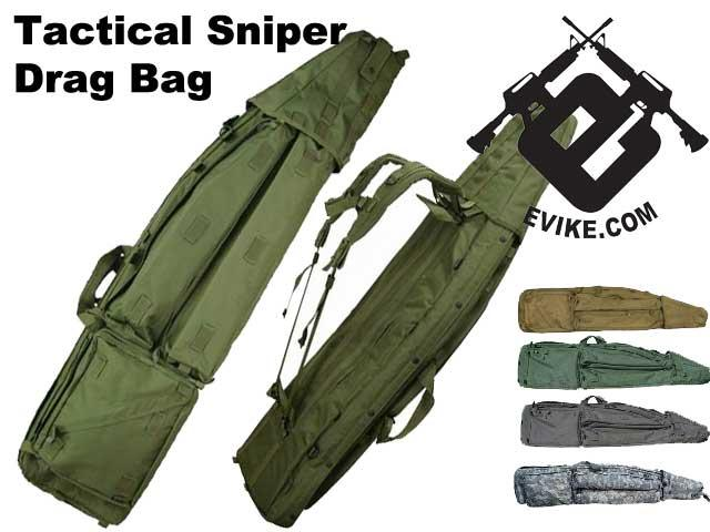 Mil-Spec 50 Deluxe Tactical Sniper Drag Bag / Rifle Case System - Tan