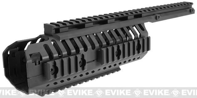 A&K Selective Rails System for M4 series Airsoft Rifles (Color: Black)