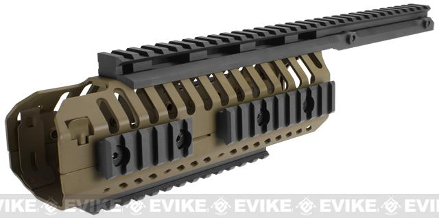 A&K Selective Rails System for M4 series Airsoft Rifles (Color: Dark Earth)