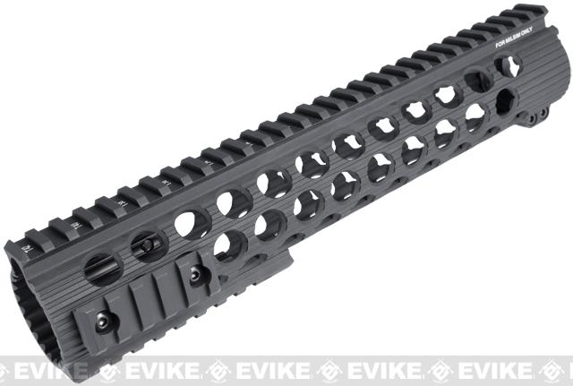 Madbull Airsoft Official Licensed Troy Industries TRX Battle Rail 11 for Airsoft M4/M16 Series AEGs (Color: Black / 11)