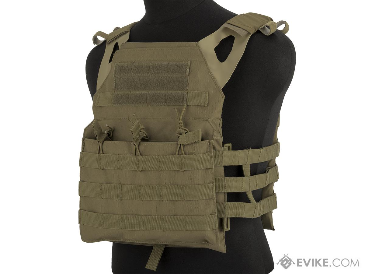 Rothco Lightweight Plate Carrier Vest (Color: Coyote Brown)