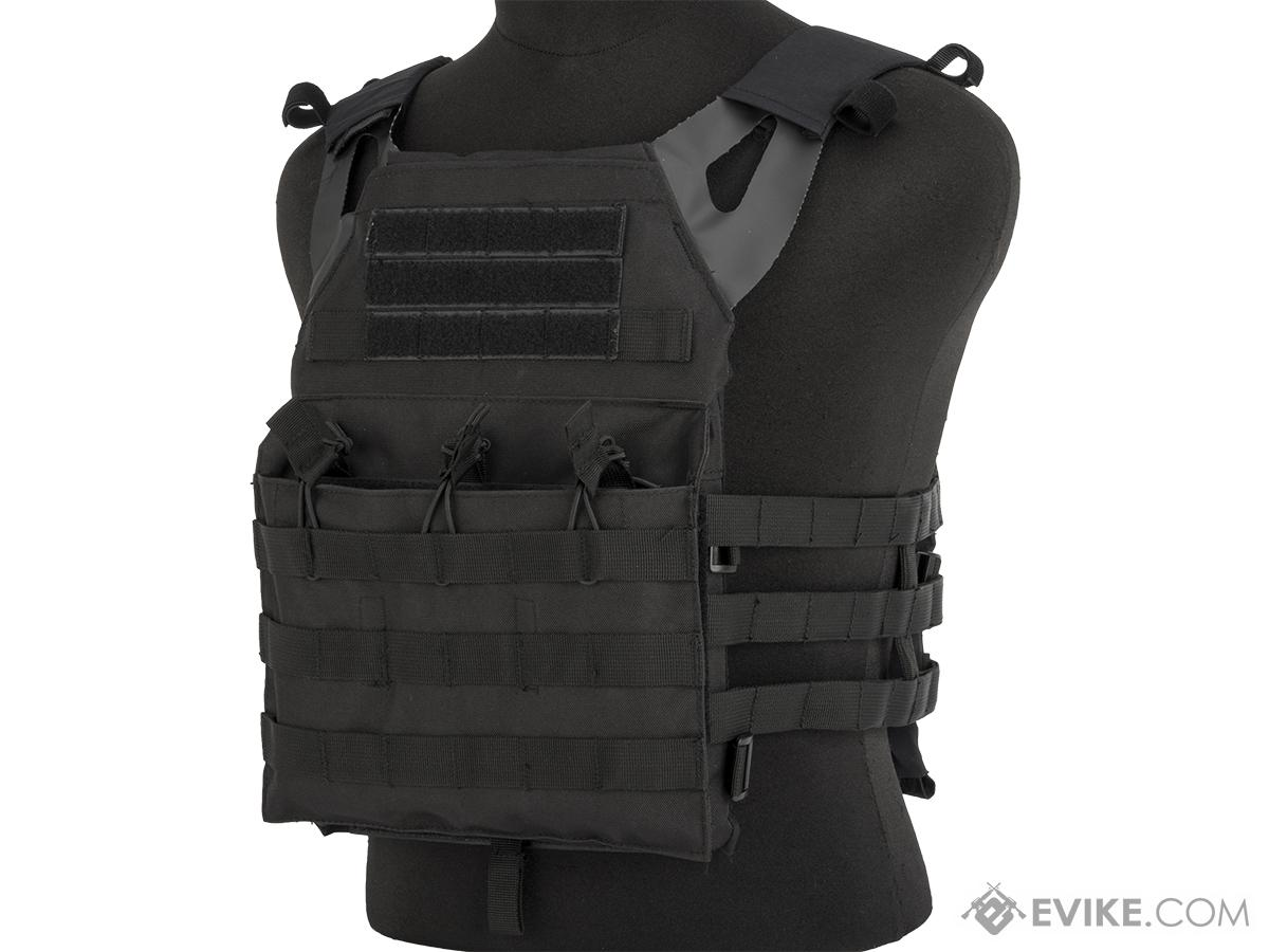Rothco Lightweight Plate Carrier Vest (Color: Black)
