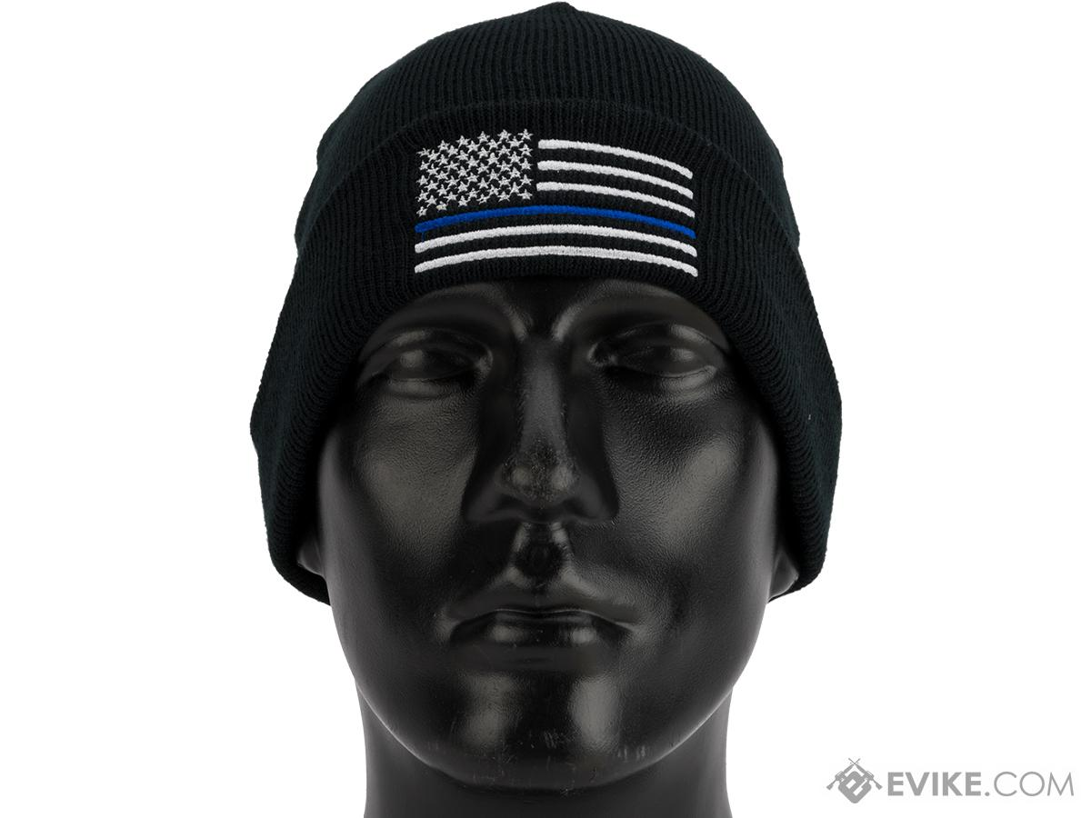 8dc8ce6409ac8 Rothco Thin Blue Line Deluxe Embroidered Watch Cap. Hover or touch above to  zoom. Product image 1 Product image 2 ...