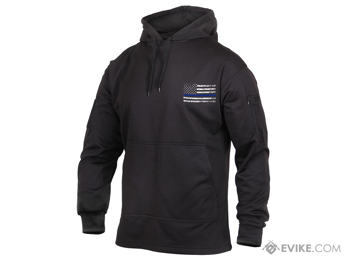 Rothco Thin Blue Line Concealed Carry Hoodie - Black (Size: Small)