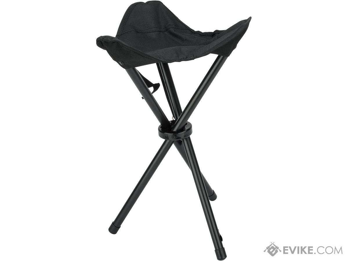 Rothco Collapsible Stool with Carry Strap (Color: Black)