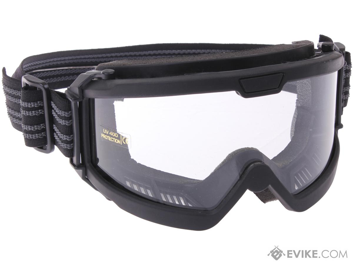 Rothco OTG (Over the Glasses) ANSI Rated / Mil-Spec Ballistic Goggles (Color: Black / Clear Lens)