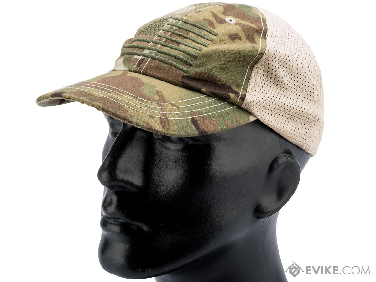 Rothco Mesh Back Tactical Cap w/ Embroidered Flag (Color: Multicam)