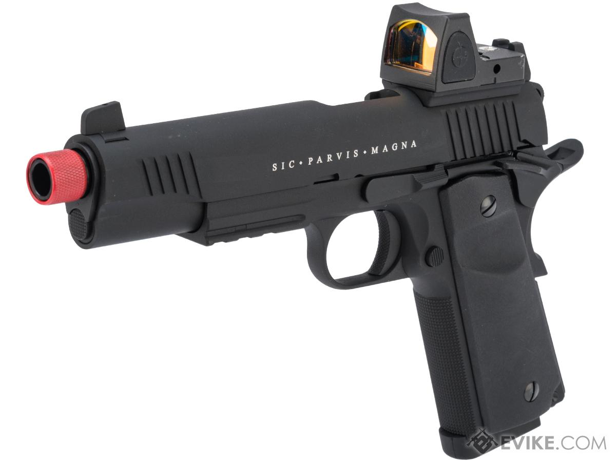 Secutor Arms Rudis Magna Series 1911 Gas Blowback Airsoft Pistol (Model: Model XII / Black)