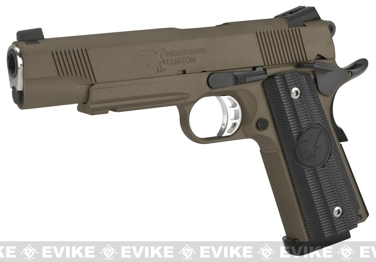 RWA Steel CO2 Powered Limited Edition Nighthawk GRP Recon Airsoft Pistol - Burnt Bronze Cerakote