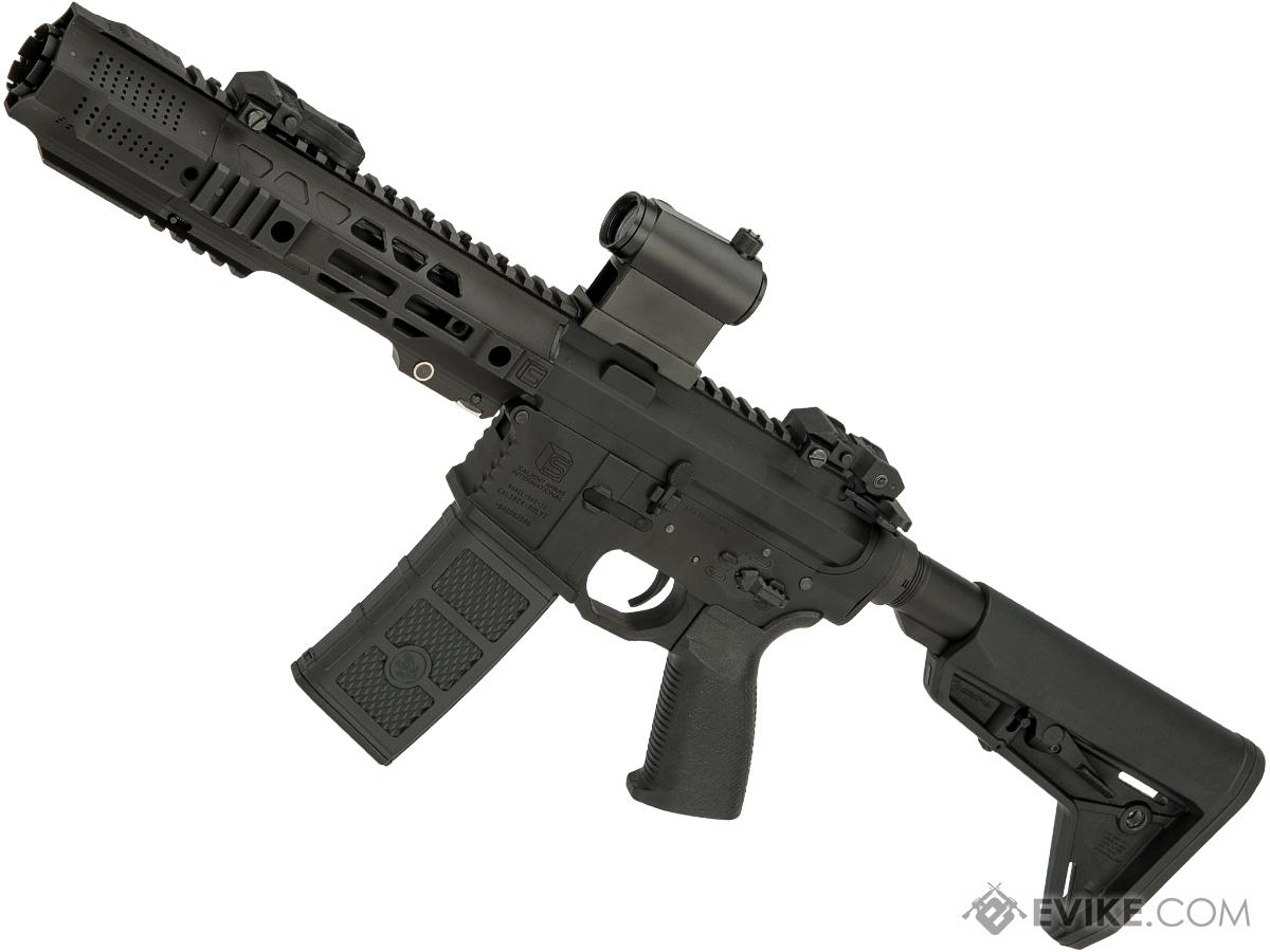 Pre-Order ETA October 2019 EMG SAI Licensed GRY SBR AR-15 / M4 AEG Training Rifle w/ i5 Gearbox (Configuration: CQB / Black ITAR Furniture)