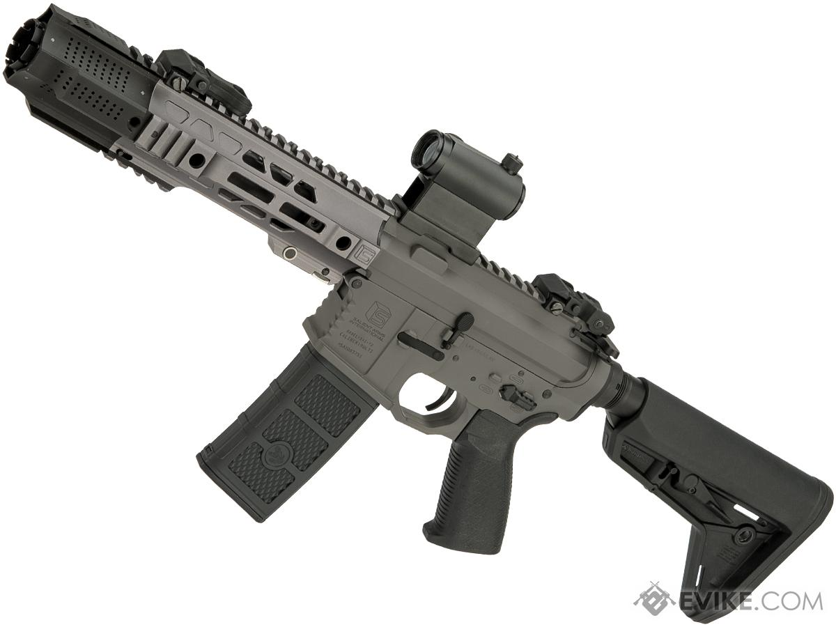 EMG / SAI GRY SBR AR-15 AEG Training Rifle w/ JailBrake Muzzle (Configuration: CQB / Grey ITAR Furniture)