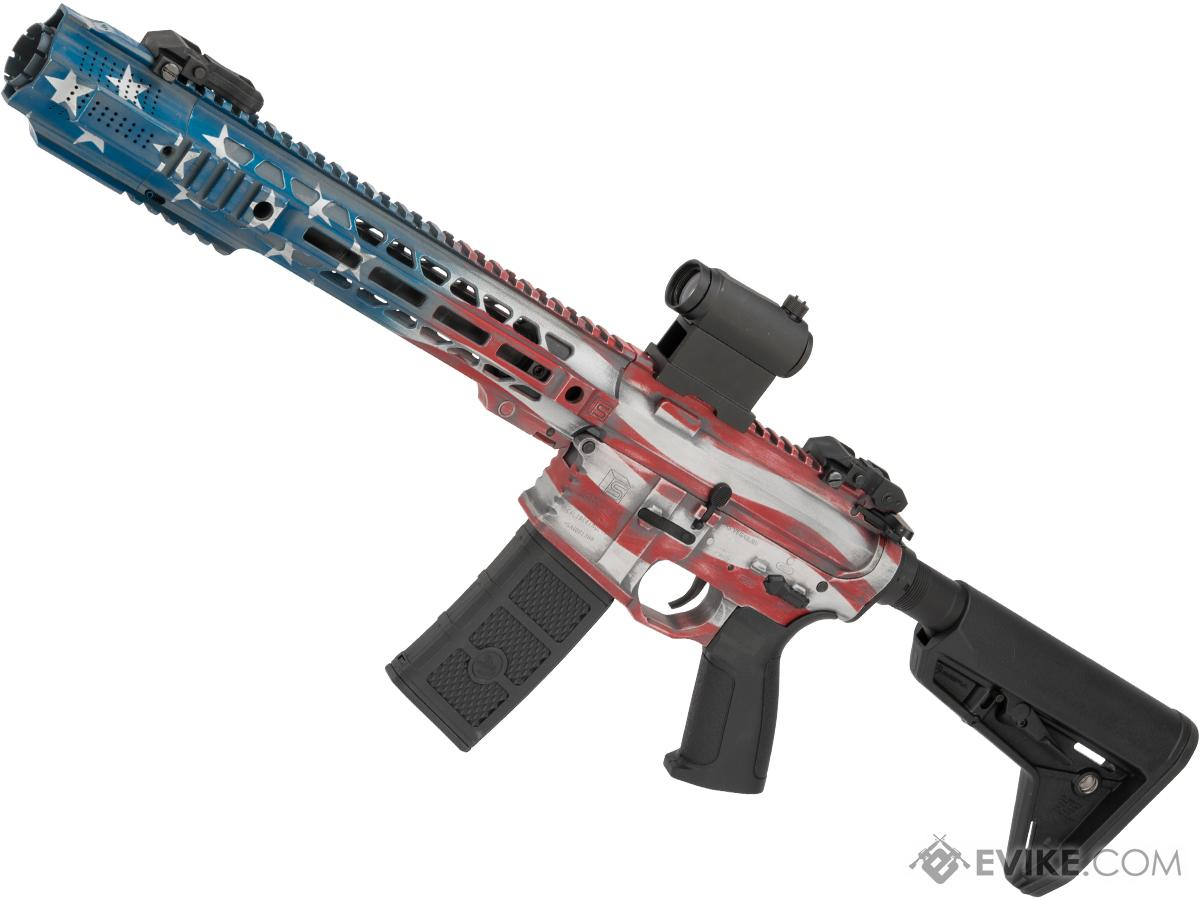 EMG Custom Cerakote SAI GRY Training Weapon M4 Airsoft AEG Rifle (Configuration: SBR / Stars and Stripes)