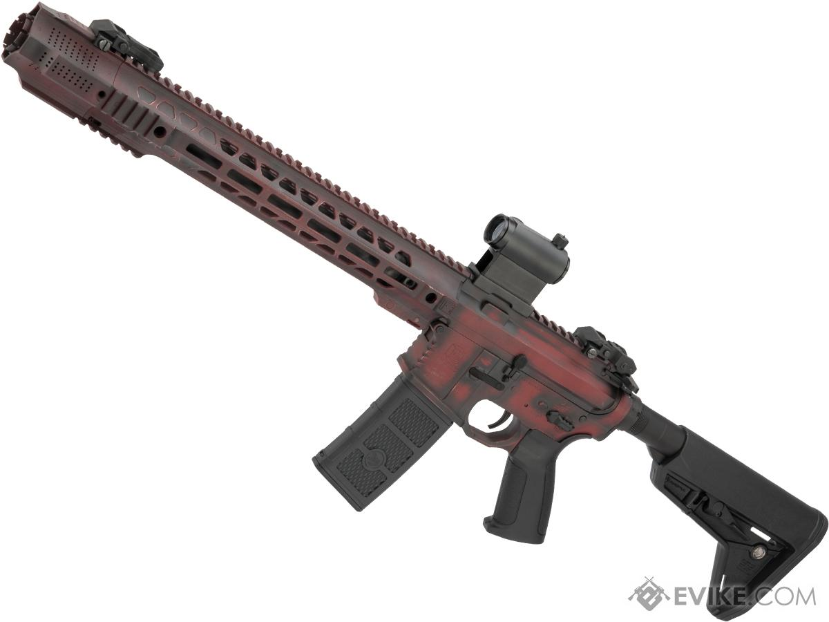 EMG Custom Cerakote SAI GRY Training Weapon M4 Airsoft AEG Rifle  (Configuration: Carbine / Distressed Red)