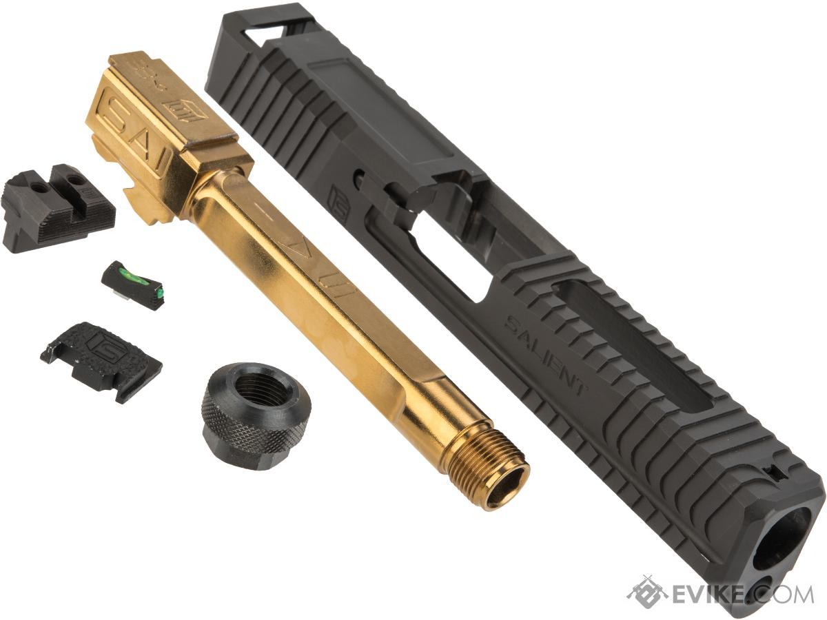 G&P Steel Slide for EMG SAI BLU Gas Blowback Training Pistols (Barrel: Gold Barrel)