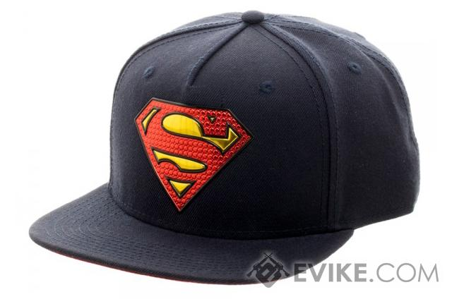 Superman Chrome Weld Snapback Cap - Blue