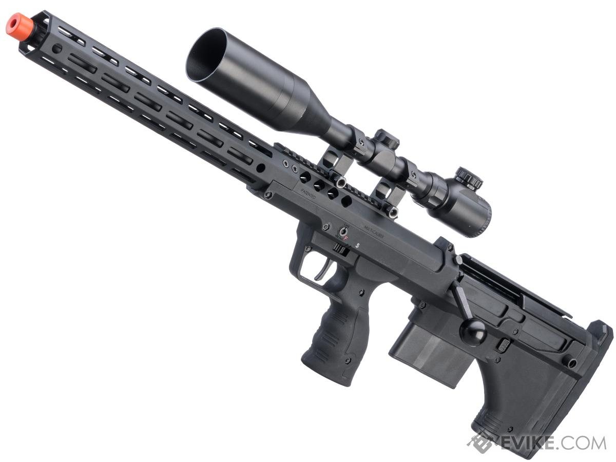 Desert Tech SRS-A2 22 Covert Pull Bolt Action Bullpup Sniper Rifle by Silverback Airsoft (Color: Black / Left-Handed)