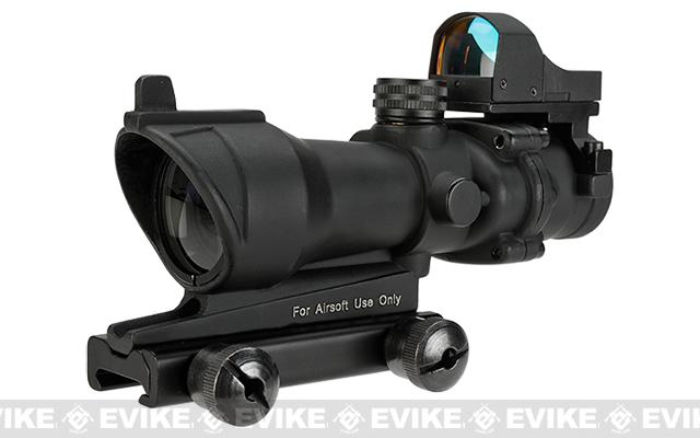Bravo OP Style 4x32 Magnified Scope w/ Red Dot Reflex Sight For Airsoft