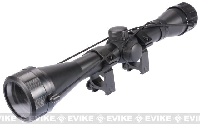 AIM Sports 6x40 Fixed Power Rifle Scope with Rings