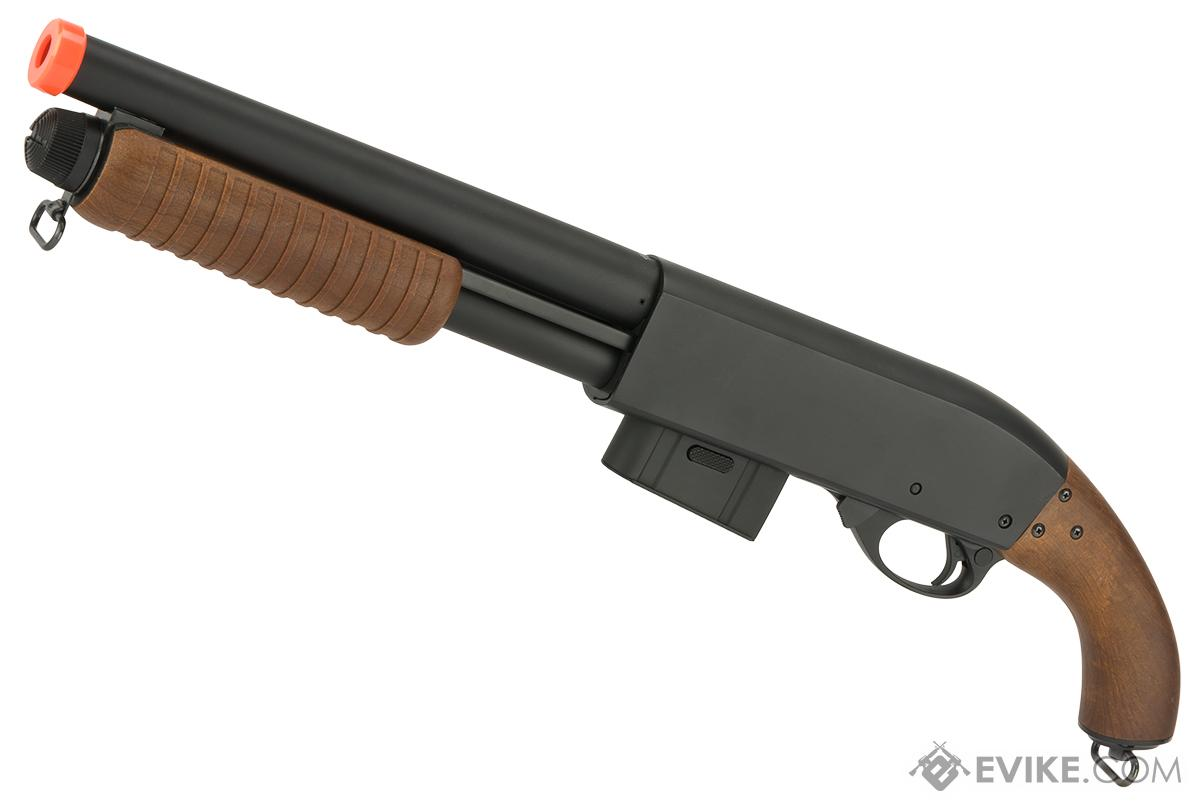 A&K Sawed Off M870 Type Full Metal 400 FPS Airsoft Training Shotgun (Version: Imitation Wood)
