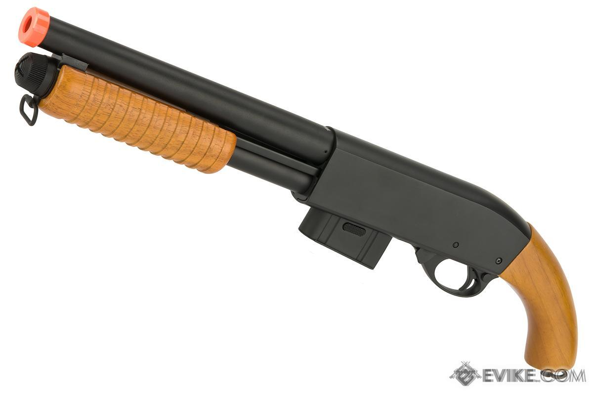 A&K Sawed Off M870 Type Full Metal 400 FPS Airsoft Training Shotgun (Version: Real Wood)