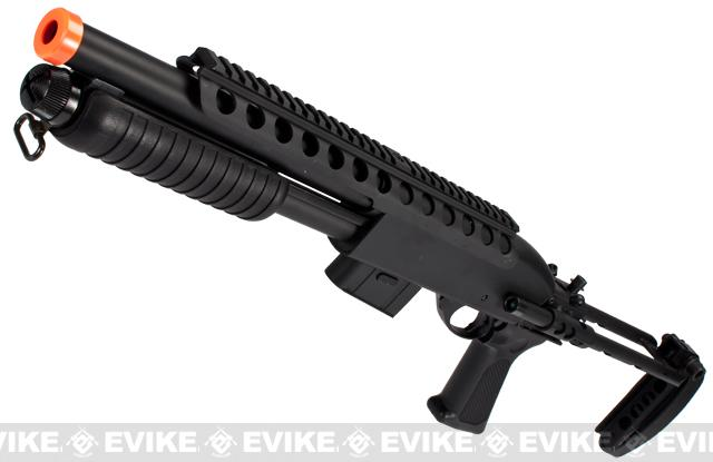 A&K Bravo Full Metal M870 Tactical Tac Shot Airsoft Shotgun (400 FPS)