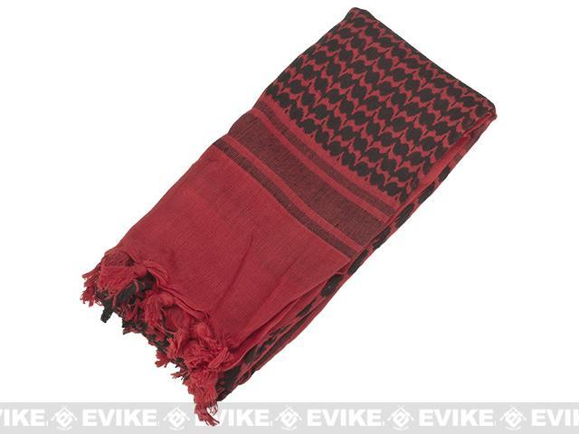 Matrix Woven Coalition Desert Shemagh / Scarves (Color: Red / Black)