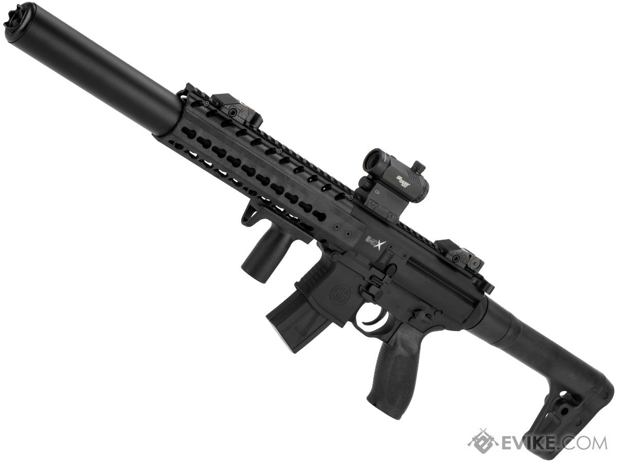 SIG Sauer MCX ASP Co2 Powered .177 cal Semi-Automatic Airgun w/ Red Dot Optic (Color: Black)