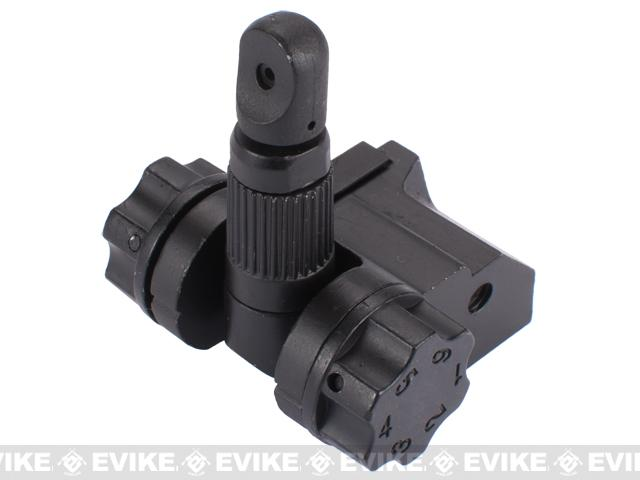 Special Force Full Metal 600m Rear Flip-up Airsoft Folding Weaver Sight