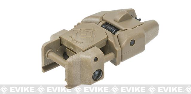 Dual-Profile Rhino Flip-up Rifle / SMG Sight by Evike - Front Sight (Color: Dark Earth)