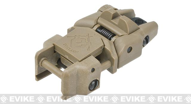 Dual-Profile Rhino Flip-up Rifle / SMG Sight by Evike - Rear Sight (Color: Dark Earth)