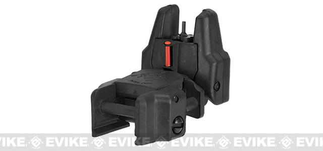 Dual-Profile Rhino Fiber Optic Flip-up Rifle / SMG Sight by Evike - Front Sight (Color: Black)