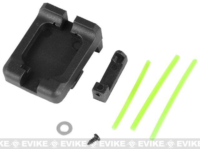 Matrix Fiber Optics Sight Set for KSC KWA ATP 17 18 19 Series Airsoft GBB (Color: Green)