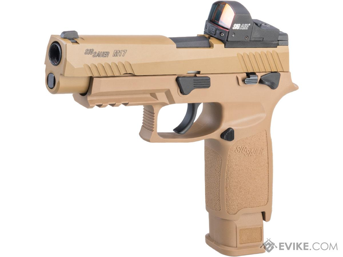 SIG Sauer ProForce P320 M17 MHS Airsoft GBB Pistol (Color: Tan / Green Gas / Competition Package)